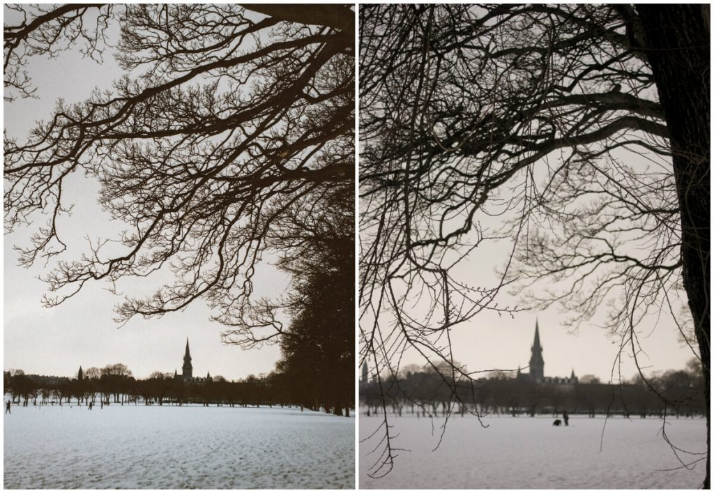 Winter in Edinburgh. The Meadows. March 2018