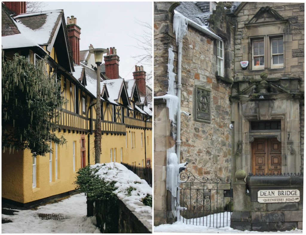 Winter in Dean Village & Dean Bridge, Ediburgh March 2018