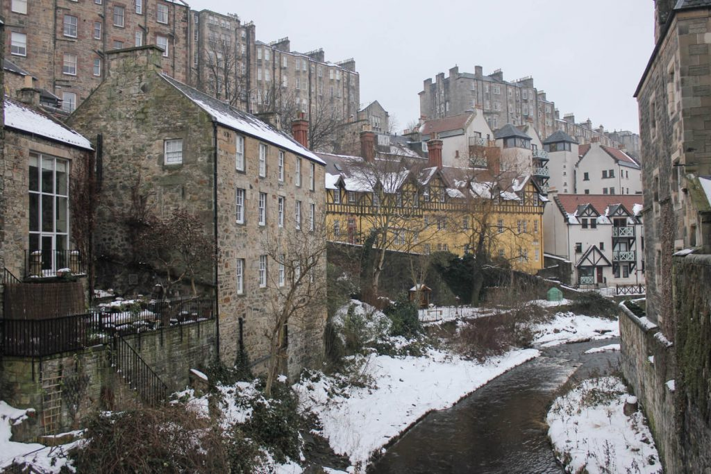 Winter in Dean Village, Ediburgh March 2018